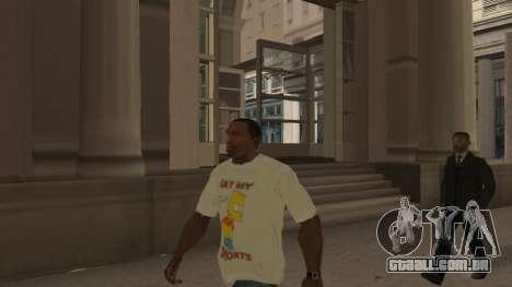 Bart Simpson T-Shirt para GTA San Andreas segunda tela