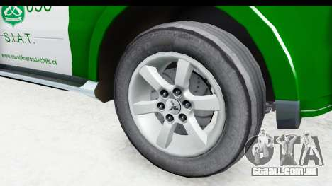 Mitsubishi Montero Carabineros Seção SIAT para GTA San Andreas vista traseira
