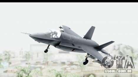 Lockheed Martin F-35B Lightning II para GTA San Andreas traseira esquerda vista