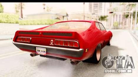 Ford Torino para GTA San Andreas traseira esquerda vista