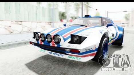 GTA 5 Lampadati Tropos Rallye IVF para o motor de GTA San Andreas