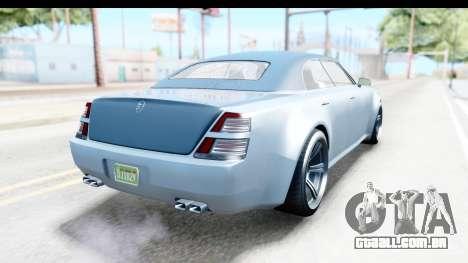 GTA 5 Enus Windsor Drop IVF para GTA San Andreas traseira esquerda vista