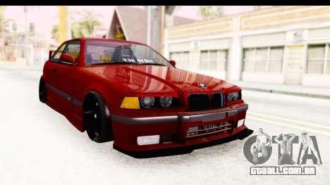 BMW M3 E36 Spermatozoid Edition para GTA San Andreas vista direita