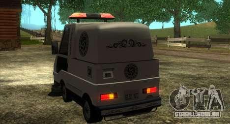 New Sweeper IVF para GTA San Andreas vista traseira