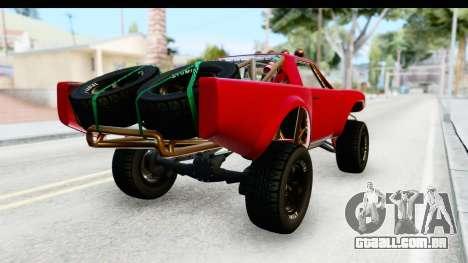 GTA 5 Trophy Truck SA Lights para GTA San Andreas traseira esquerda vista