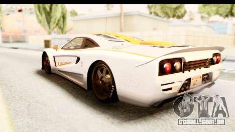 GTA 5 Progen Tyrus SA Style para GTA San Andreas interior