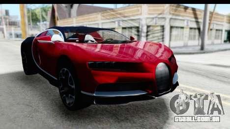 Bugatti Chiron 2017 v2 para GTA San Andreas vista direita