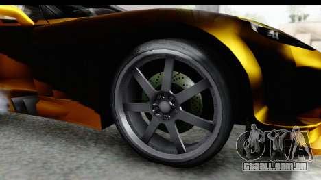 NFS Carbon Chevrolet Corvette para GTA San Andreas vista traseira