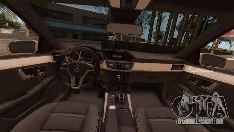 Mercedes-Benz E63 GSC para GTA San Andreas vista direita