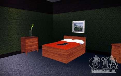 New CJ House para GTA San Andreas por diante tela