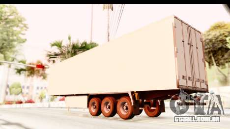 Trailer ETS2 v2 New Skin 2 para GTA San Andreas esquerda vista