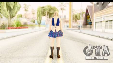 DoA 5 - Sarah Pop Idol para GTA San Andreas terceira tela