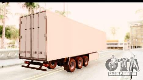 Trailer ETS2 v2 New Skin 1 para GTA San Andreas esquerda vista