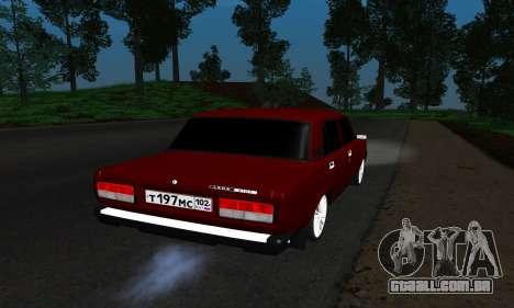 2107 para GTA San Andreas traseira esquerda vista