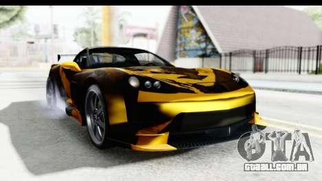 NFS Carbon Chevrolet Corvette para GTA San Andreas traseira esquerda vista