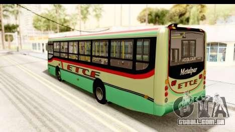 Metalpar Tronador 2 Puertas ETCE GTA Micros Arg para GTA San Andreas esquerda vista