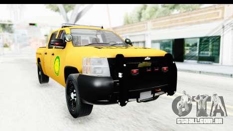 Chevrolet Silvedaro Basarnas para GTA San Andreas vista direita
