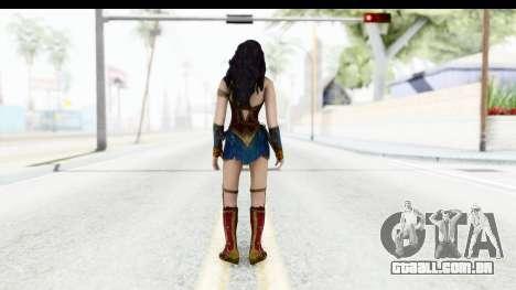 Injustice God Among Us - Wonder Woman BVS para GTA San Andreas terceira tela