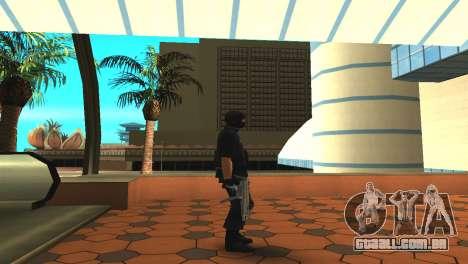 Modificado original pele SWAT para GTA San Andreas por diante tela