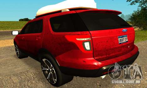 Ford Explorer 2013 para GTA San Andreas traseira esquerda vista