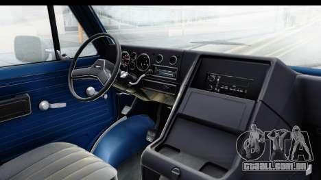 GMC Vandura 1985 White Stripes HQLM para GTA San Andreas vista interior