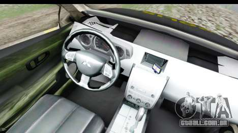 Mitsubishi L200 Indonesian Police para GTA San Andreas vista interior