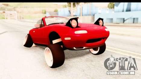 Mazda Miata with Crazy Camber para GTA San Andreas traseira esquerda vista