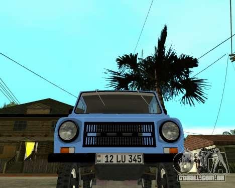 Luaz 969 Armenian para GTA San Andreas esquerda vista
