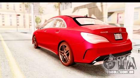 Mercedes-Benz CLA45 AMG 2014 para GTA San Andreas esquerda vista