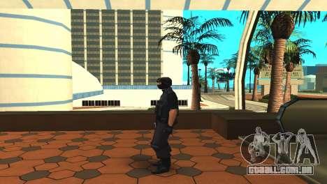 Modificado original pele SWAT para GTA San Andreas terceira tela