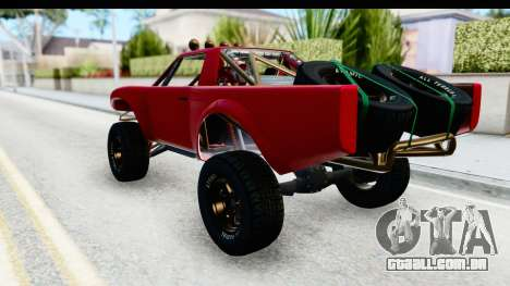 GTA 5 Trophy Truck SA Lights para GTA San Andreas esquerda vista