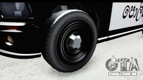 Sri Lanka Police Car v2 para GTA San Andreas vista traseira