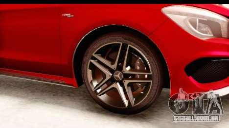 Mercedes-Benz CLA45 AMG 2014 para GTA San Andreas vista traseira