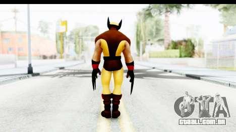 Marvel Heroes - Wolverine Brown para GTA San Andreas terceira tela