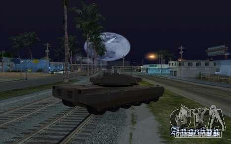 O efeito de disparo de tanque para GTA San Andreas terceira tela