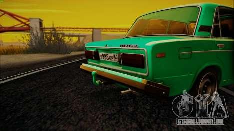 VAZ 2106 Shaherizada GVR para GTA San Andreas esquerda vista