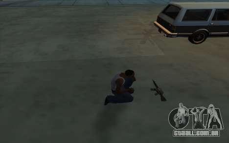 A posse de armas para GTA San Andreas terceira tela