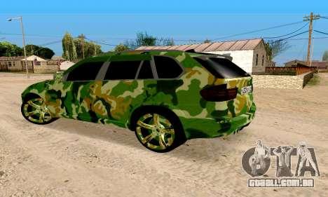 BMW X5M para GTA San Andreas esquerda vista