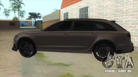 Audi RS6-R para GTA San Andreas esquerda vista