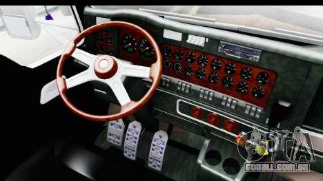 Kenworth T800 Centenario Studio Sleeper Toys para GTA San Andreas vista interior