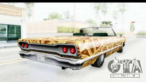 Savanna New PJ para GTA San Andreas vista interior