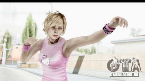 Silent Hill 3 - Heather Sporty Light Pink HK para GTA San Andreas