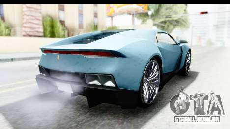 GTA 5 Pegassi Reaper v2 SA Lights para GTA San Andreas traseira esquerda vista