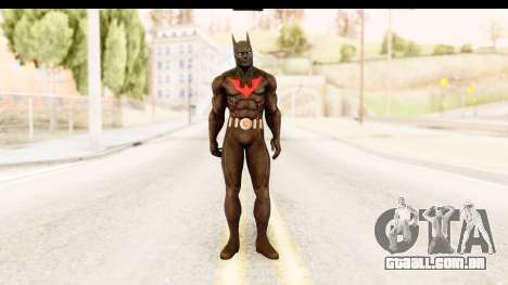 Batman Arkham City Batman Beyond para GTA San Andreas segunda tela