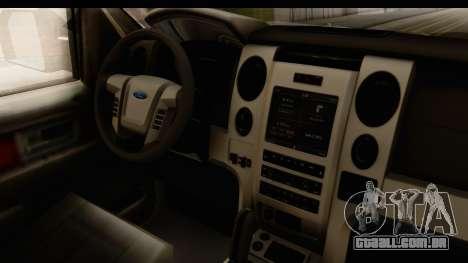 Ford F-150 Tuning para GTA San Andreas vista interior