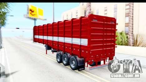 Trailer Cargo para GTA San Andreas esquerda vista