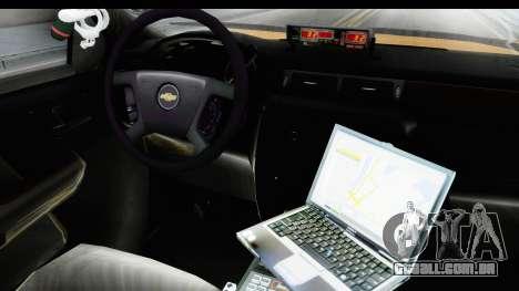 Chevrolet Silvedaro Basarnas para GTA San Andreas vista interior