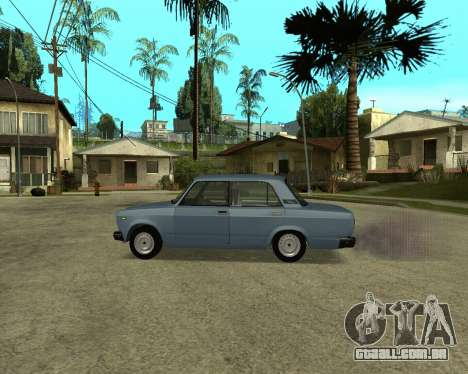 VAZ 2107 Armenian para GTA San Andreas vista interior