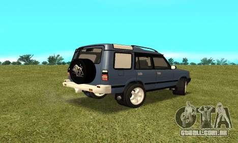 Land Rover Discovery 2B para GTA San Andreas esquerda vista