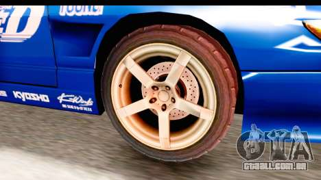 Nissan Sileighty 2015 D1GP para GTA San Andreas vista traseira